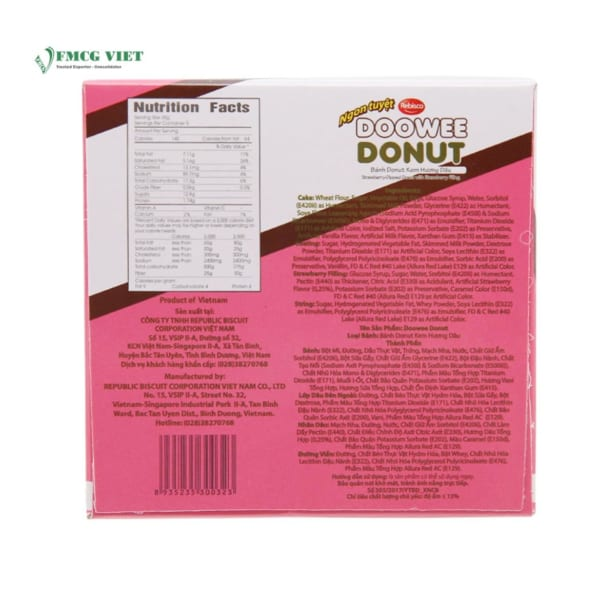 Doowee Donut Strawberry Dipped 300g