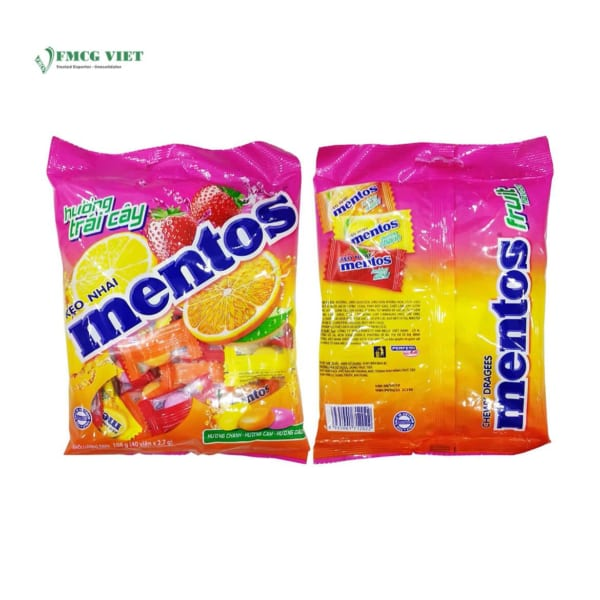 Mentos Mixed Flavour 108g - Lemon - Orange - Strawberry