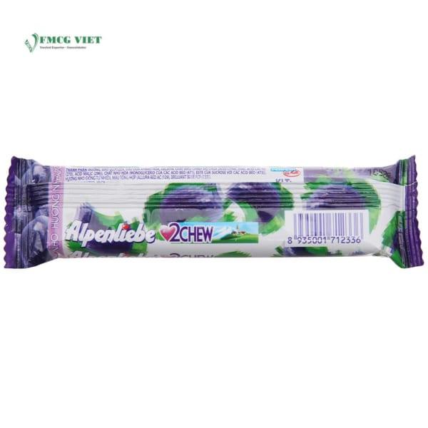 Alpenliebe 2 Chew Grape Flavor 24.5g