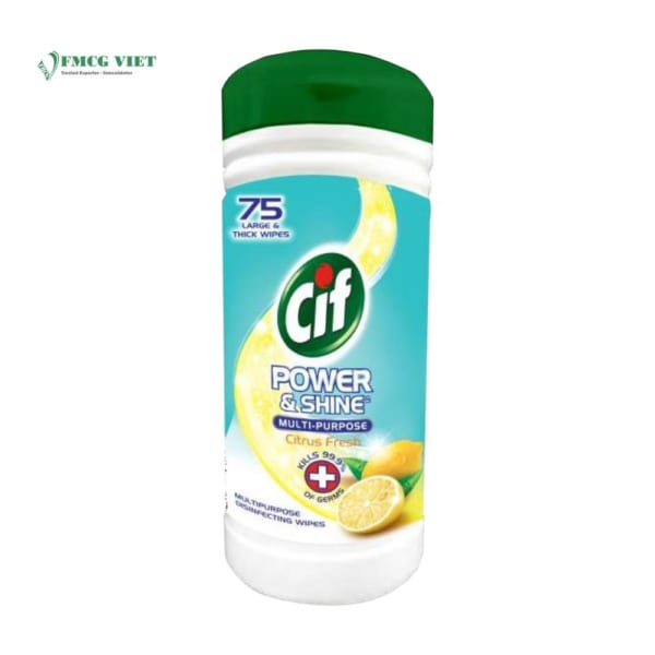 Cif Anti-Bacterial Wipes Canisters 75pcs