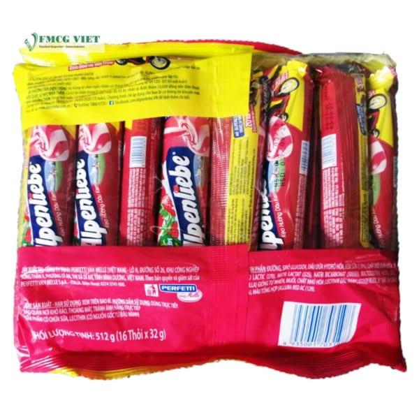 Alpenliebe Strawberry Flavor Bag 512g
