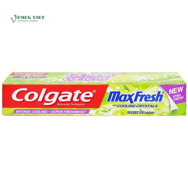 Colgate Max Fresh Cool Crystal Green Tea Flavor Toothpaste 200g