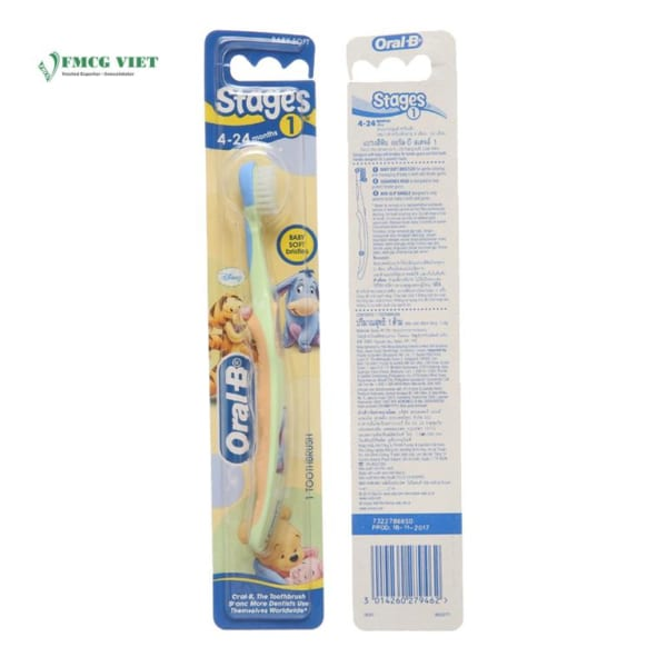 Oral B Stages 1 For Kid 4-25 Months Toothbrush