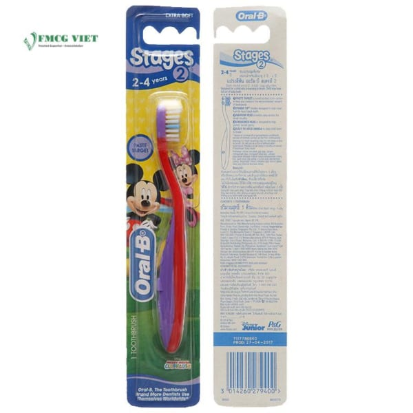 Oral B Stages 2 For Kid 2-3 Years Toothbrush