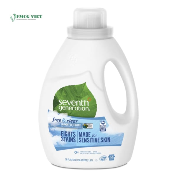 Seventh Generation Detergent Liquid Bottle 50oz Free & Clear
