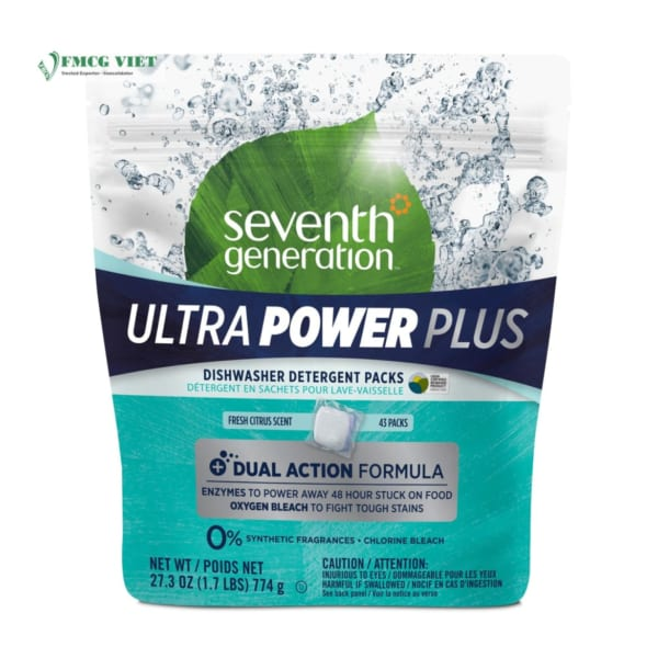 Seventh Generation Ultra Power Plus Laundry Detergent Pack 43