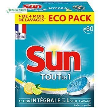 Sun All in 1 Dishwashing Tablets Lemon 60p
