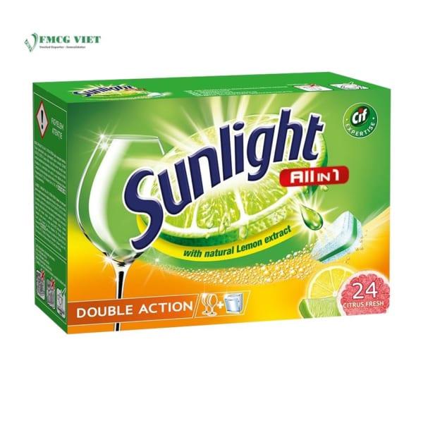 Sunlight All In 1 Dishwashing Tablet Citrus 24p