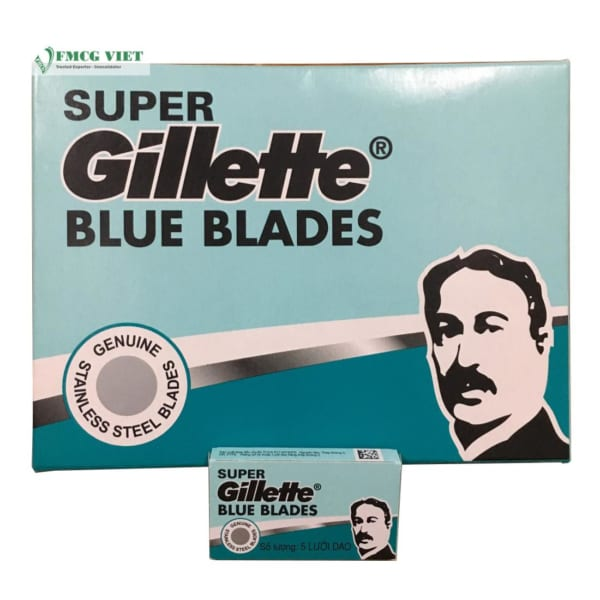 Super Gillette Blue Blades 5pcs