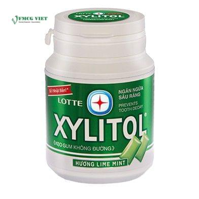 Lotte Xylitol Chewing Gum Jar 58g Lime Mint
