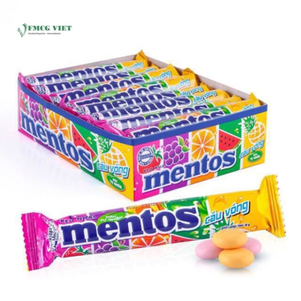 Mentos Chewy Candy Rainbow 475.2g Pack 16