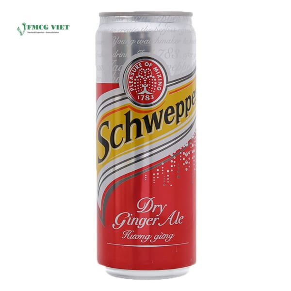 Schweppes Soda Can 330ml Sleek Tonic Water All Variants