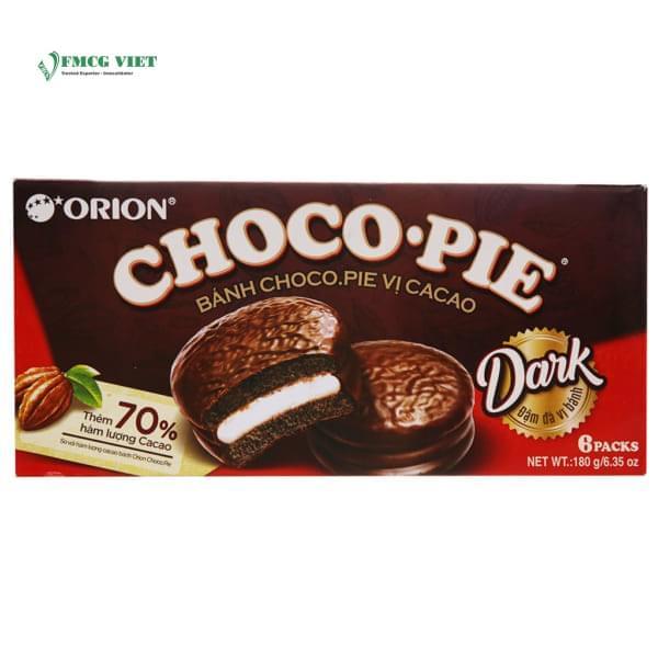 Choco Pie Soft Cake Box 180g Dark Cacao Flavor x6