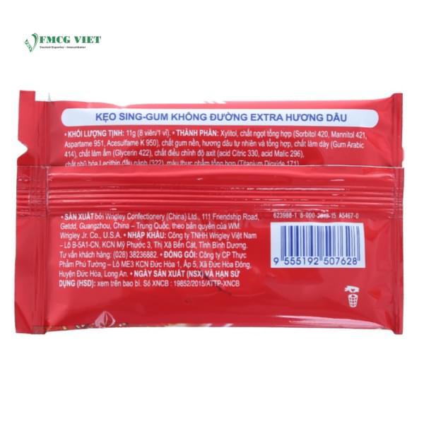 Extra Chewing Gum Sheet 11g Sugar Free Strawberry