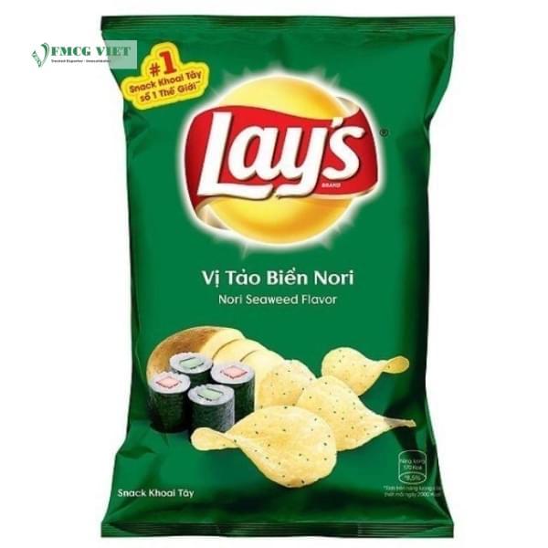 Lay's Wavy Potato Chips Bag 35g Nori Seaweed Flavour